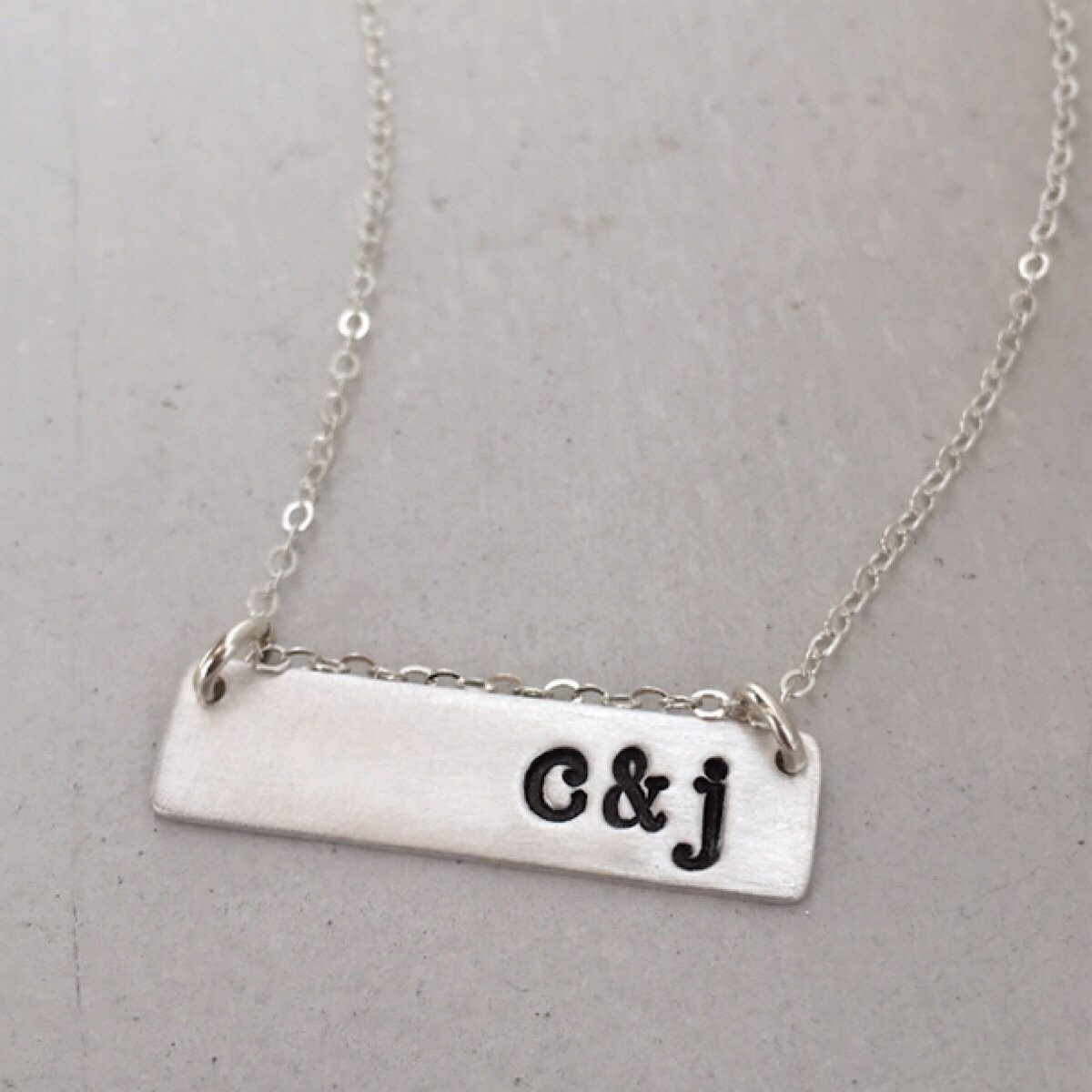 Initial Bar Necklace - IsabelleGraceJewelry