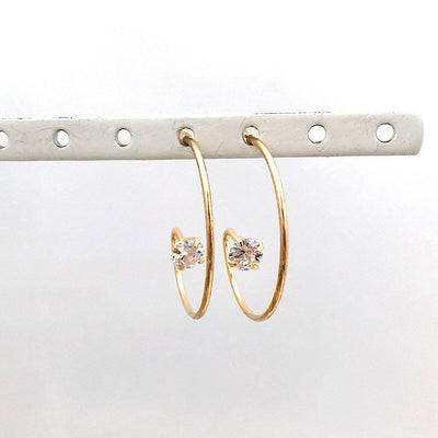 Inside Diamond Hoop Earrings