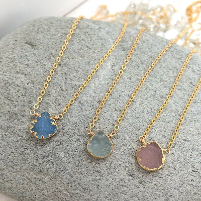 Itty Bitty Druzy Necklace - IsabelleGraceJewelry