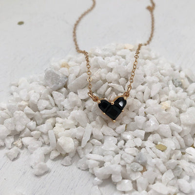Little Black Heart Necklace