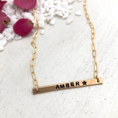Little ID Bar Necklace - IsabelleGraceJewelry