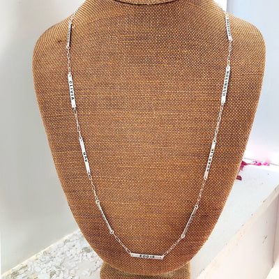 Little ID Long Bar Necklace