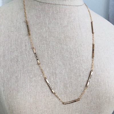 Little ID Long Necklace - IsabelleGraceJewelry