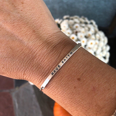 Little ID Personalized Message Bracelet  - IsabelleGraceJewelry