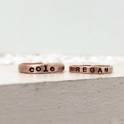 Little ID Personalized Stacking Ring - IsabelleGraceJewelry