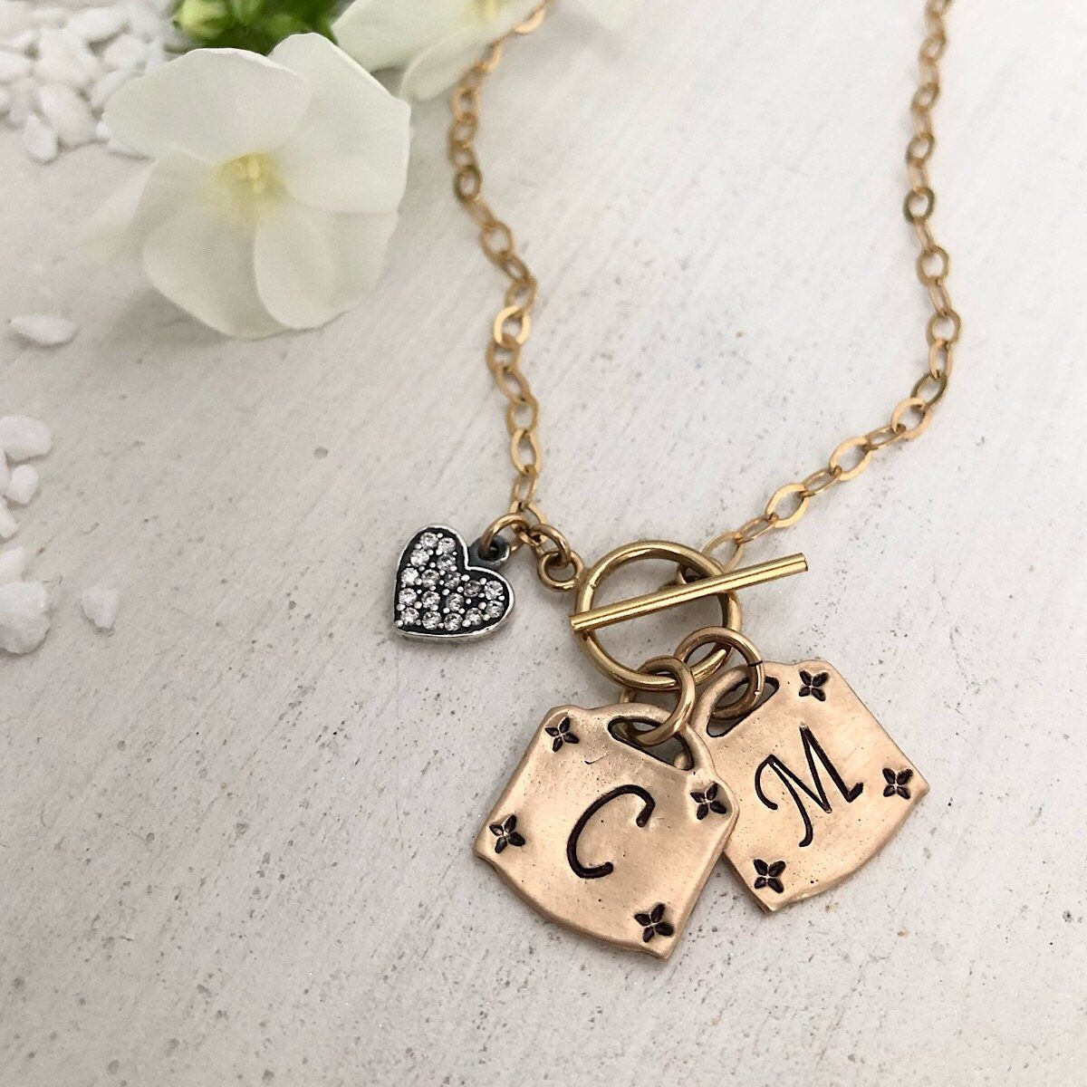 Lock Toggle Initial Necklace - IsabelleGraceJewelry