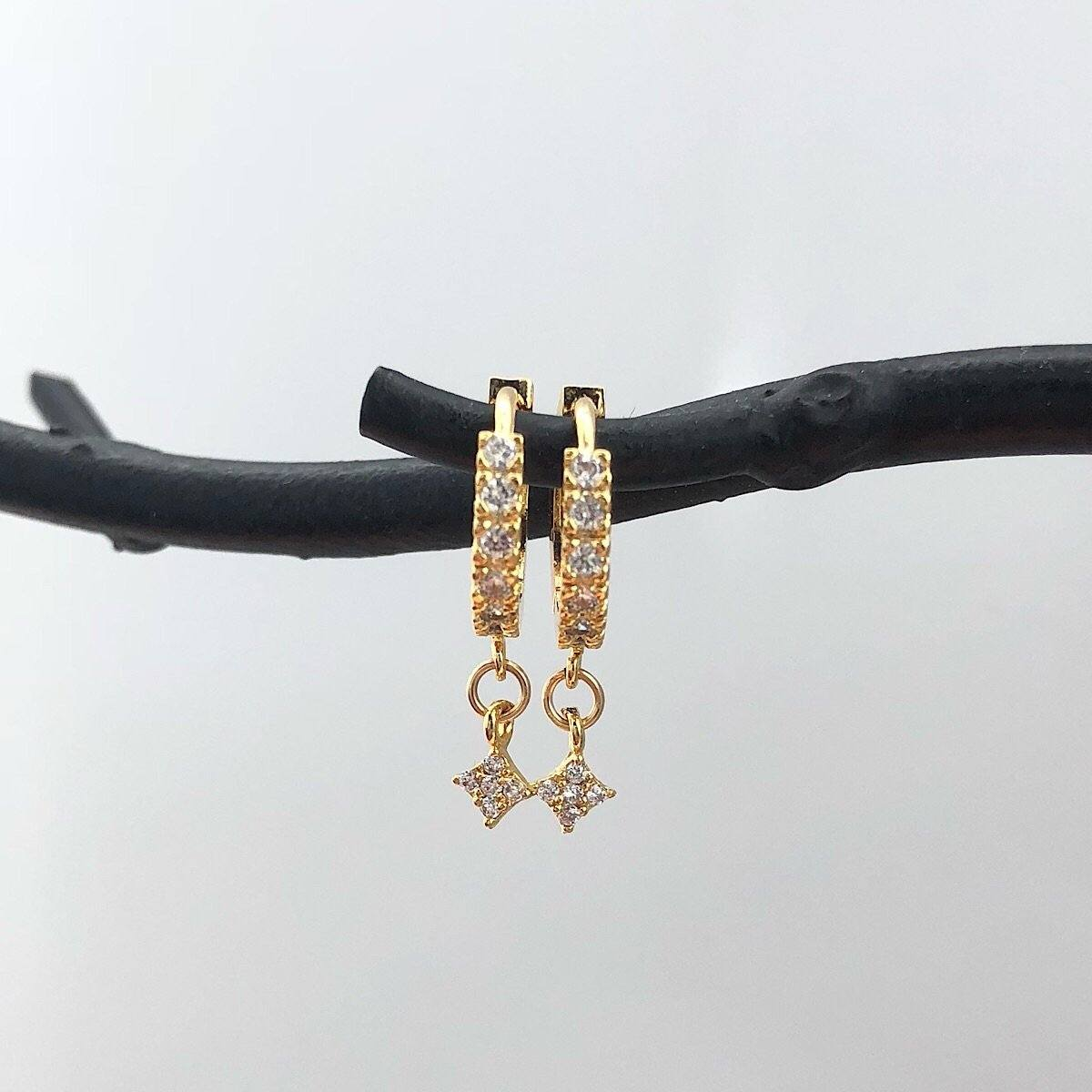 Lola CZ Huggie  Earrings - IsabelleGraceJewelry