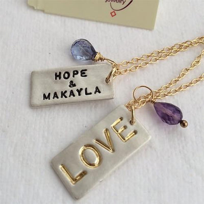 LOVE Dog Tag Necklace - IsabelleGraceJewelry