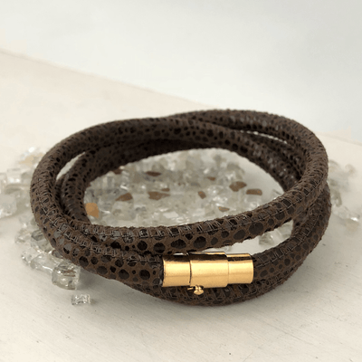 Lux Leather Wrap Bracelet  - IsabelleGraceJewelry