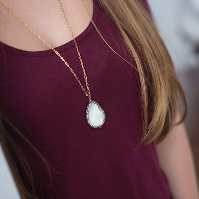 Madreperla Drop Necklace  - IsabelleGraceJewelry