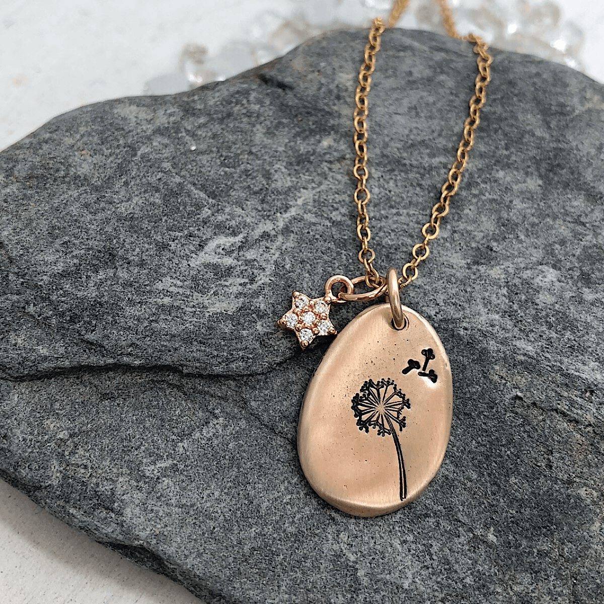 Make a Wish Pebble Necklace  - IsabelleGraceJewelry