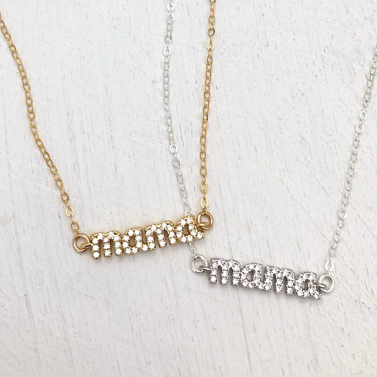 Mama Pave Necklace