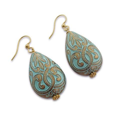 Mediterranean Motif Earrings  - IsabelleGraceJewelry