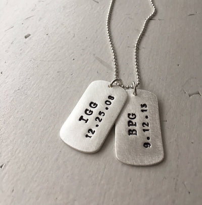 Men's Dog Tag Necklace  - IsabelleGraceJewelry