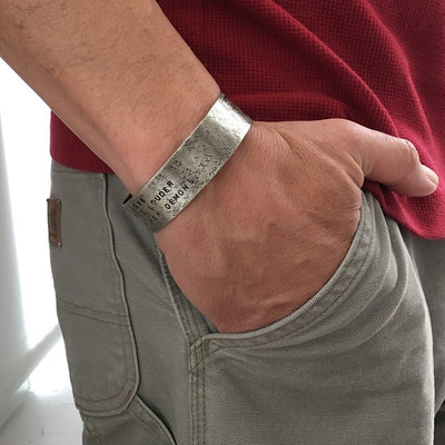 Men's Personalized Extra Wide Cuff  - IsabelleGraceJewelry