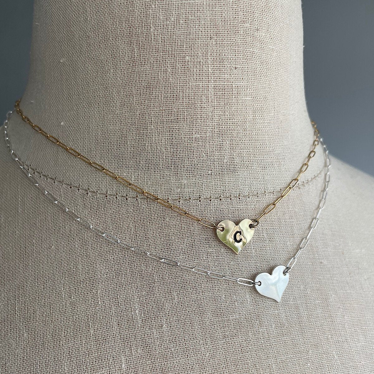 Mini Heart Initial Choker