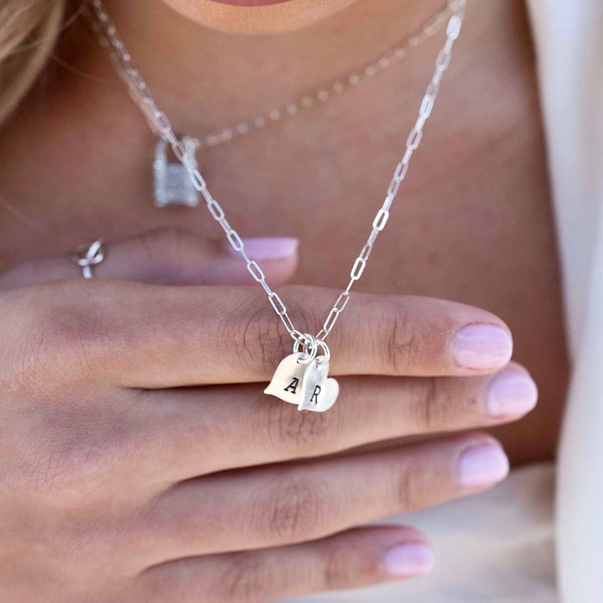 Mini Heart Initial Necklace