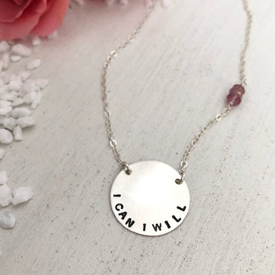 Mini Vida Personalized Disc Necklace  - IsabelleGraceJewelry
