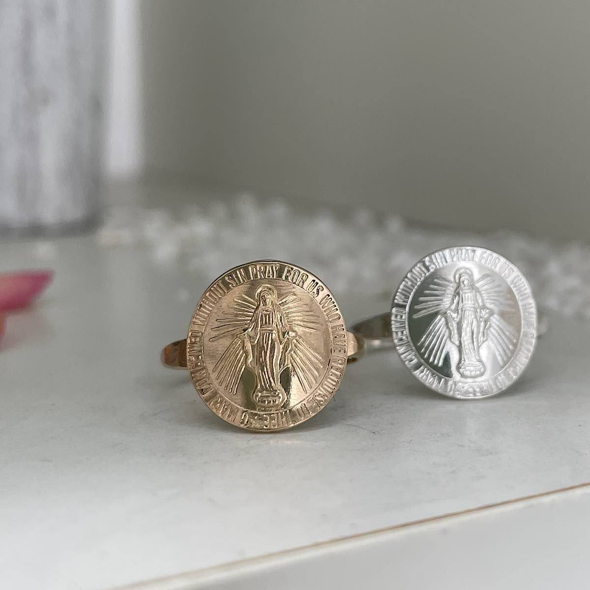 Miraculous Mary Medallion Ring