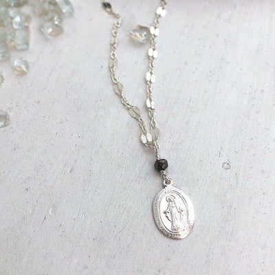 Miraculous Medal Dainty Necklace  - IsabelleGraceJewelry