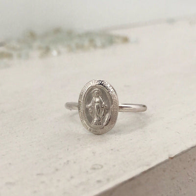 Miraculous Medal Ring  - IsabelleGraceJewelry