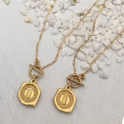 Miraculous Medal Toggle Necklace