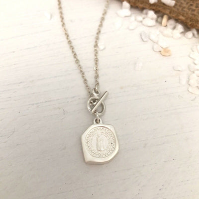 Miraculous Medal Toggle Necklace  - IsabelleGraceJewelry
