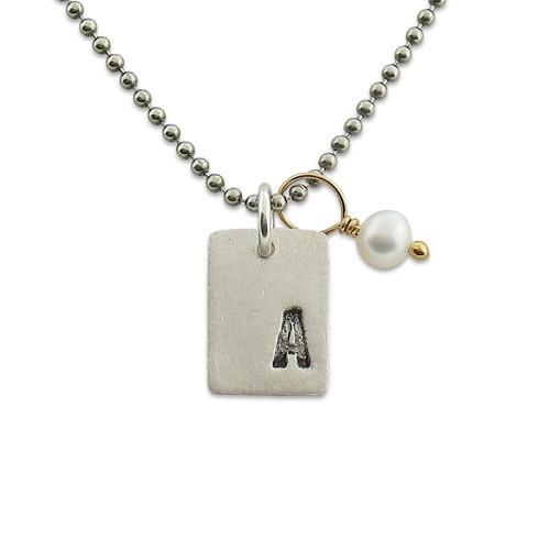 Modern Initial Necklace  - IsabelleGraceJewelry