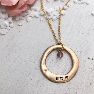 Mom Open Circle Necklace  - IsabelleGraceJewelry