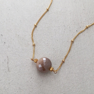 Moonstone Pearl Drop Necklace  - IsabelleGraceJewelry