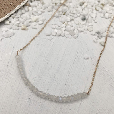 Moonstone Strand Necklace