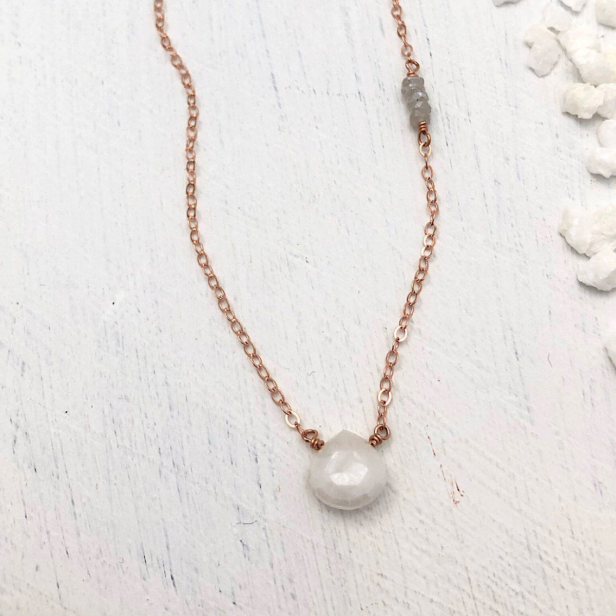 Mystic White Drop Necklace