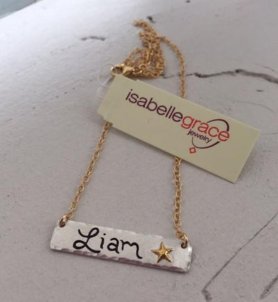 Name Bar Necklace  - IsabelleGraceJewelry