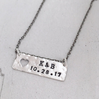 Open Heart Bar Necklace  - IsabelleGraceJewelry