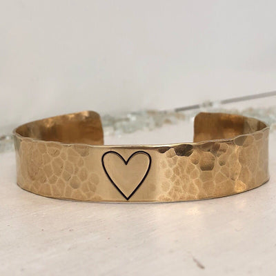 Open Heart Pebble Cuff  - IsabelleGraceJewelry