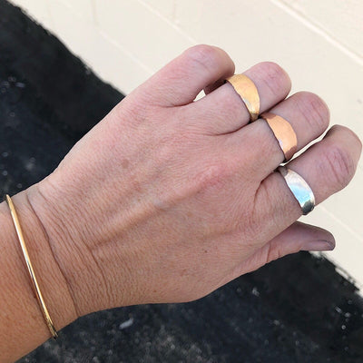 Organic Bold Band Ring  - IsabelleGraceJewelry