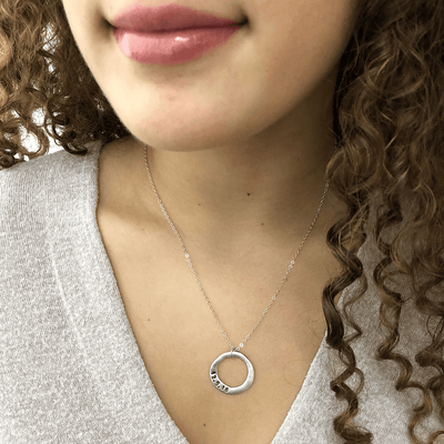 Personalized  Open Circle Necklace  - IsabelleGraceJewelry