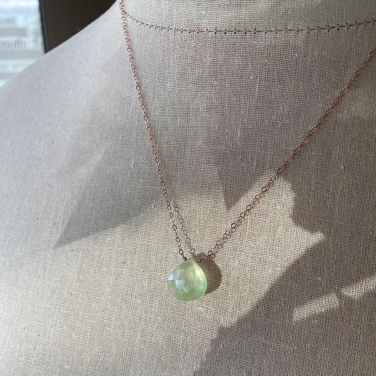 Prehnite Gemstone Necklace
