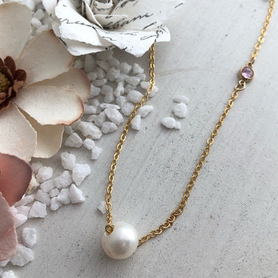 Pretty In Pink Pearl Necklace  - IsabelleGraceJewelry