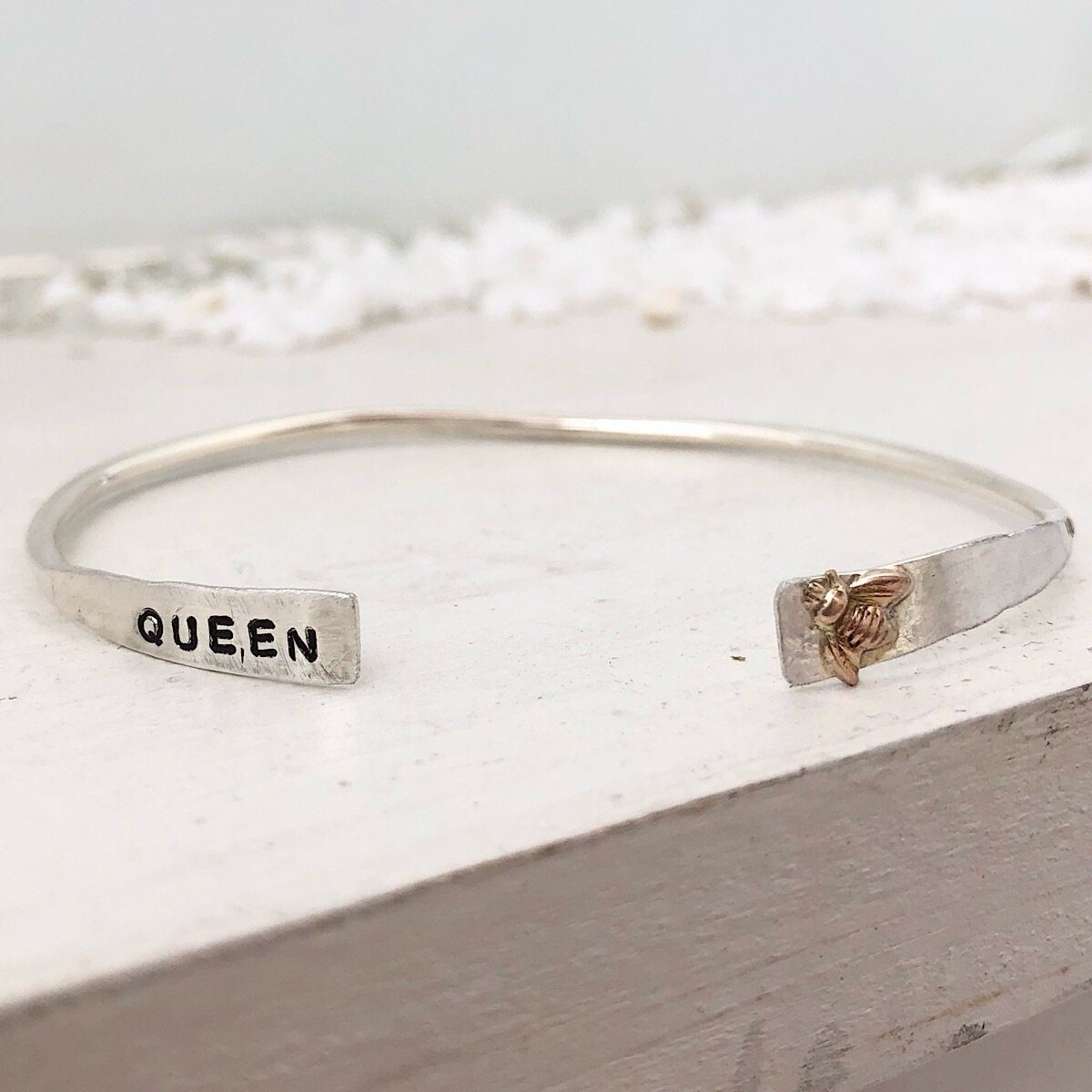 Queen Bee Thin Cuff  - IsabelleGraceJewelry