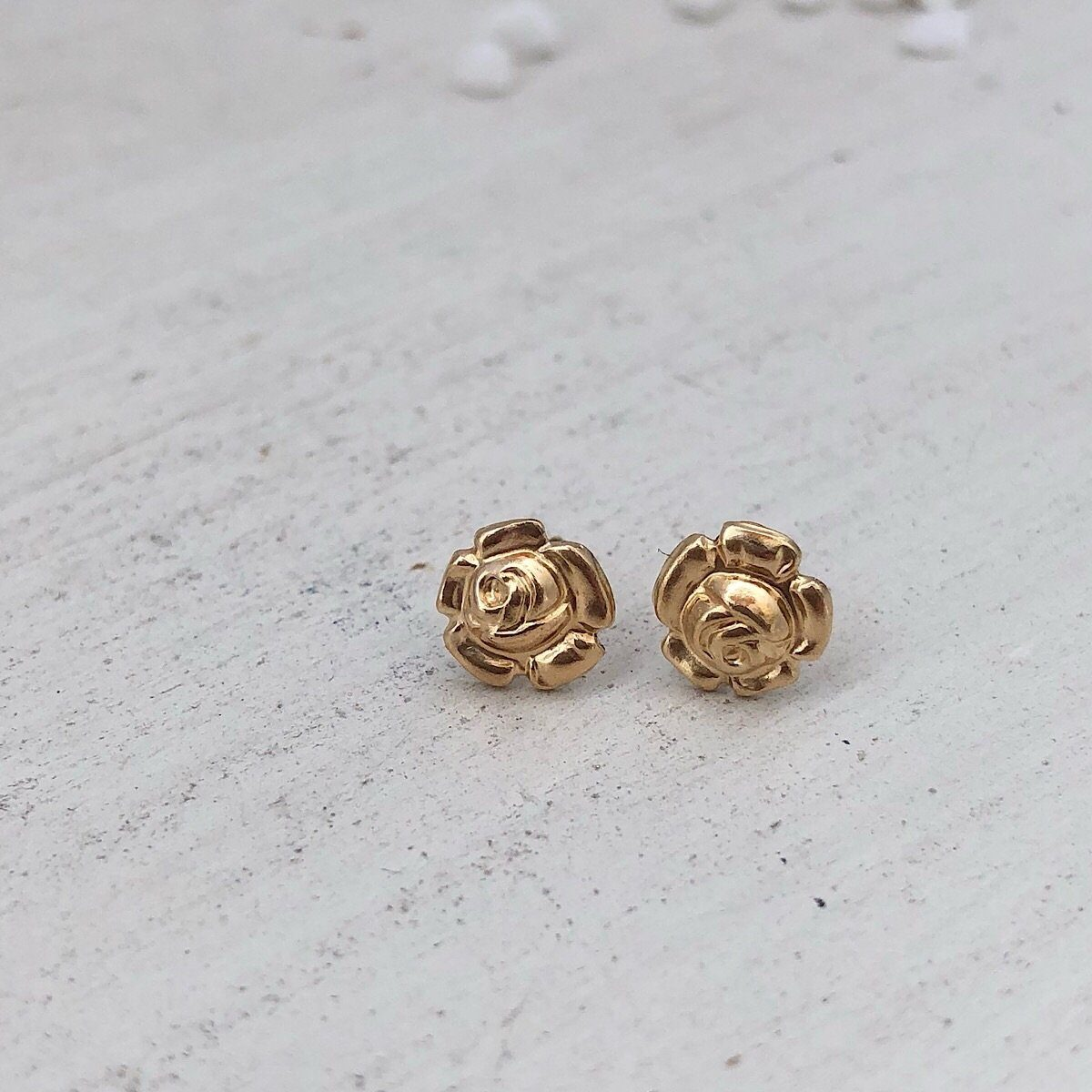 Rosebud Stud Earrings  - IsabelleGraceJewelry