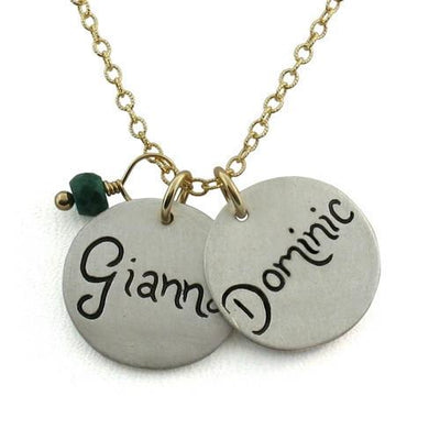 Script Name Charm Necklace  - IsabelleGraceJewelry