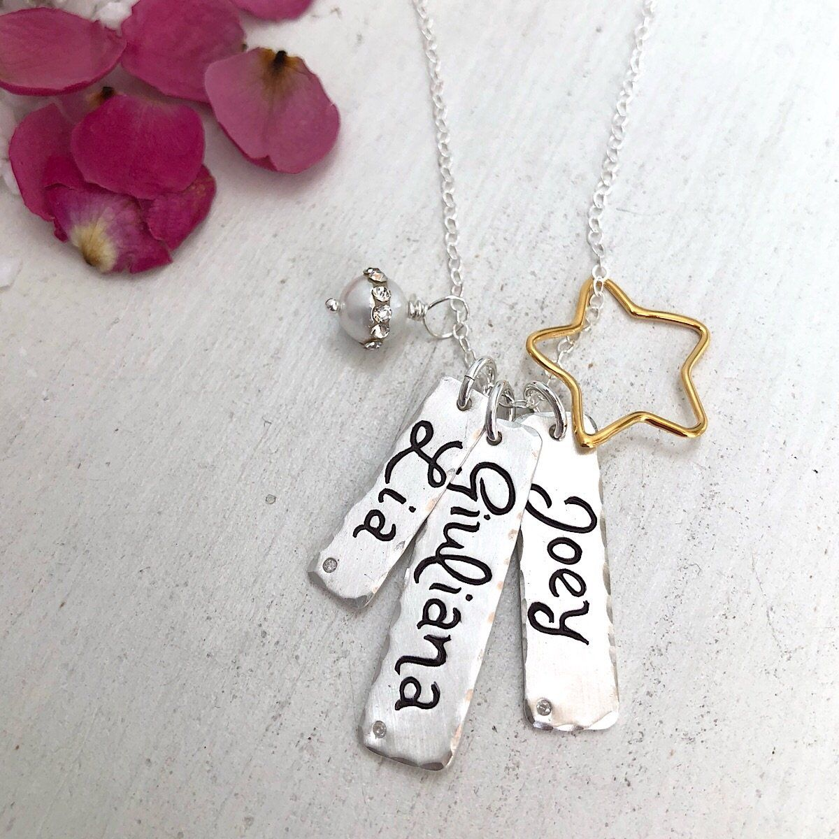 Script Tall Tags  - IsabelleGraceJewelry