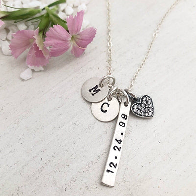 Simple Anniversary Necklace  - IsabelleGraceJewelry