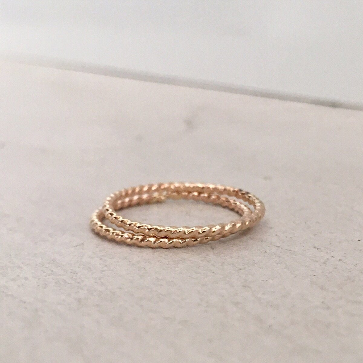 Skinny Stacker Twist Ring Gold  - IsabelleGraceJewelry