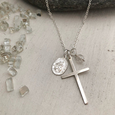 St. Christopher Travelers Charm Necklace  - IsabelleGraceJewelry