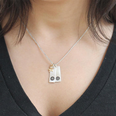 Star Initial Necklace  - IsabelleGraceJewelry
