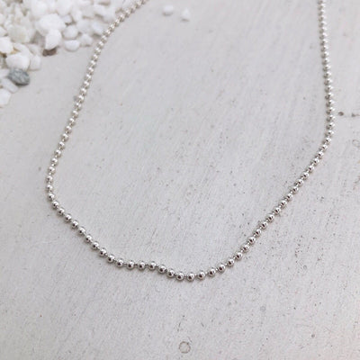 Sterling Silver Ball Chain  - IsabelleGraceJewelry