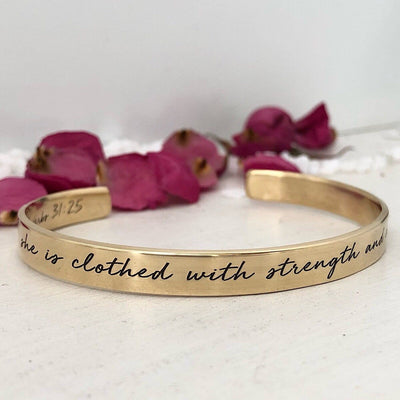 Strength and Dignity Cuff  - IsabelleGraceJewelry