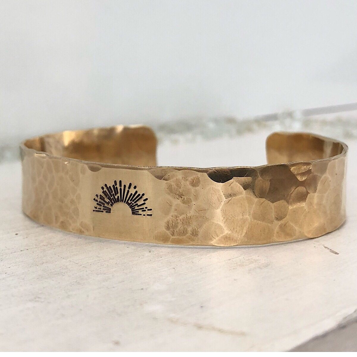 Sunrise Always Pebble Cuff  - IsabelleGraceJewelry